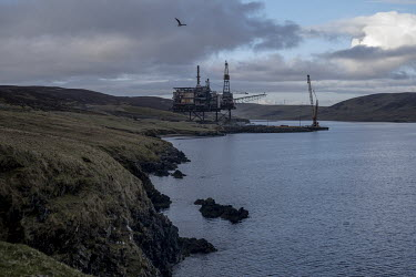 The Ninian Northern oil rig being de-commissioned at Dales Voe in Shetland. In 2020 the Shetland council voted to look at ways of obtaining financial and political independence from Scotland. Shetland...