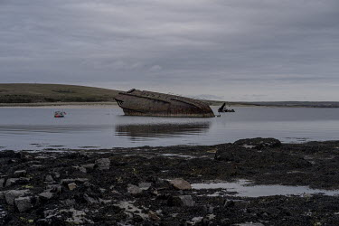 The remains of a ship used in the First World War to block the entrance to Scapa Flow to prevent German submarines attacking the British fleet stationed there in WW1 and WW2. Protected by the surround...