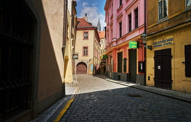 Kozna Street,�close to the Old-Town Square, lies empty due to COVID-19 restrictions.