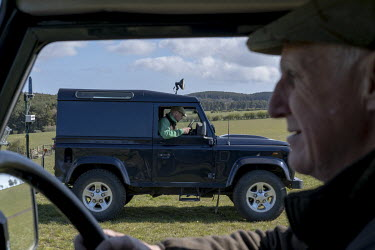 Kenny Horne (right), head Gamekeeper at Teasses estate in Fife with his assistant Jordan (in the other vehicle). The Teasses Estate covers 1,100 acres, it organises pheasant, duck and partridge shoots...