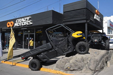 All terrain vehicles, popular with drug traffickers, for sale at 'Crazy Motors'.
